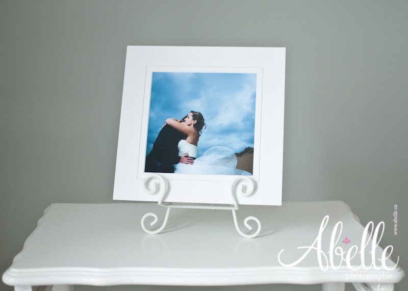 Mounted professional wedding image