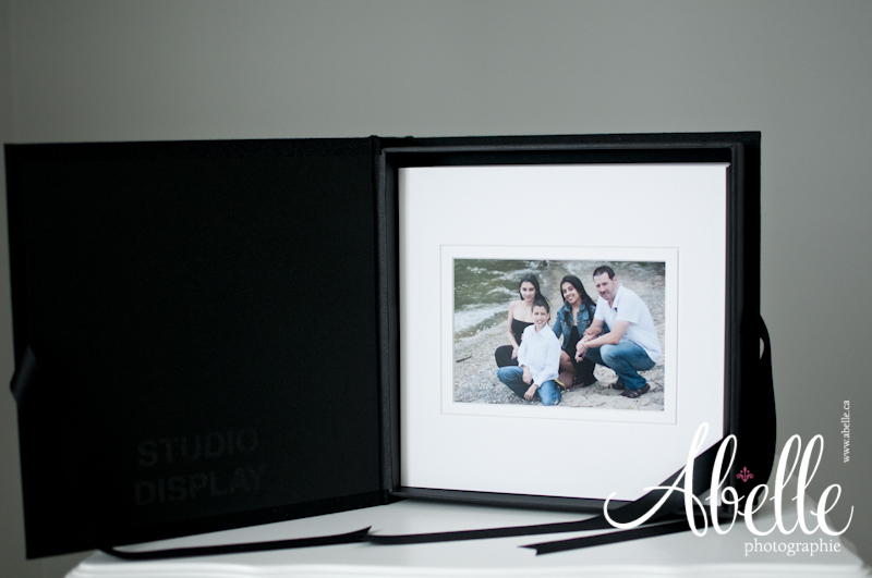 Mounted professional family portrait image