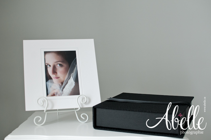 Black quality portfolio box with a premium matted fine art print
