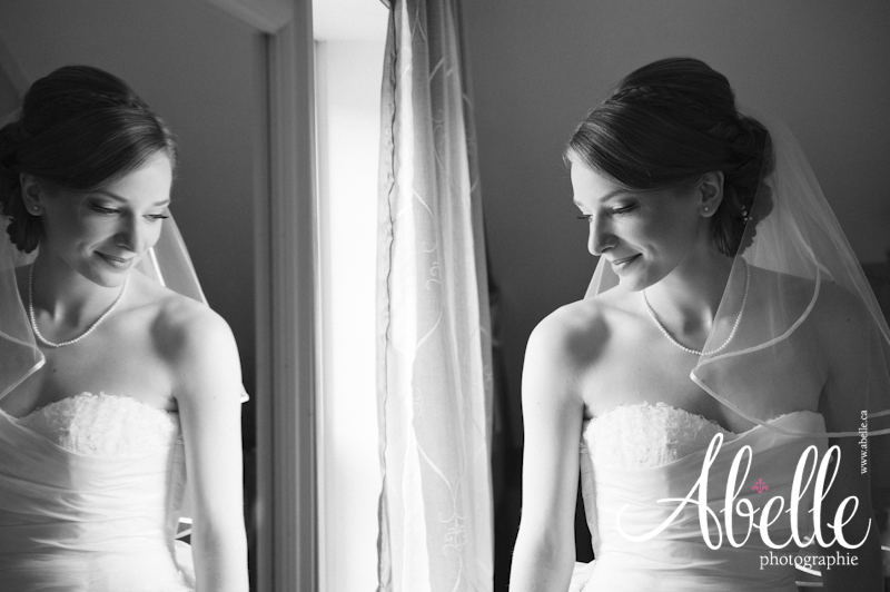 Beautiful black and white bridal portrait