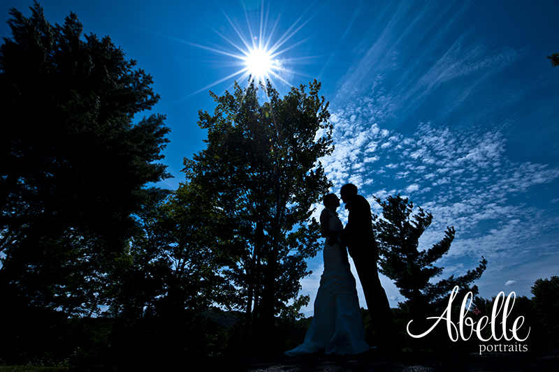 Midday photo taken of bride and groom: Abelle Photography