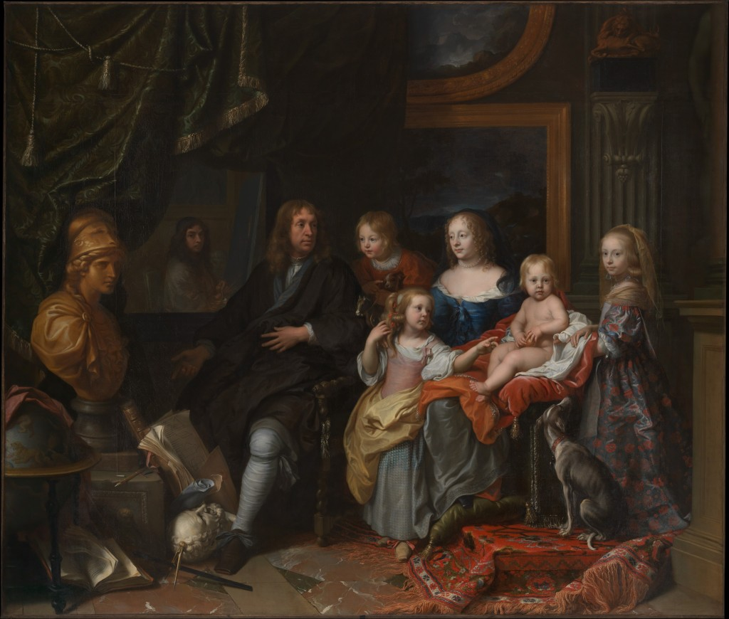 Charles Le Brun (French, Paris 1619–1690) Everhard Jabach (1618–1695) and His Family, ca. 1660 Oil on canvas; 110 1/4 × 129 1/8 in. (280 × 328 cm) The Metropolitan Museum of Art, New York, Purchase, Mrs. Charles Wrightsman Gift, in honor of Keith Christiansen, 2014 (2014.250) http://www.metmuseum.org/Collections/search-the-collections/626692