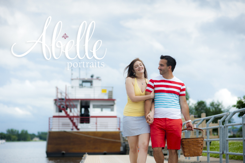 Abelle portrait fiançailles Montréal