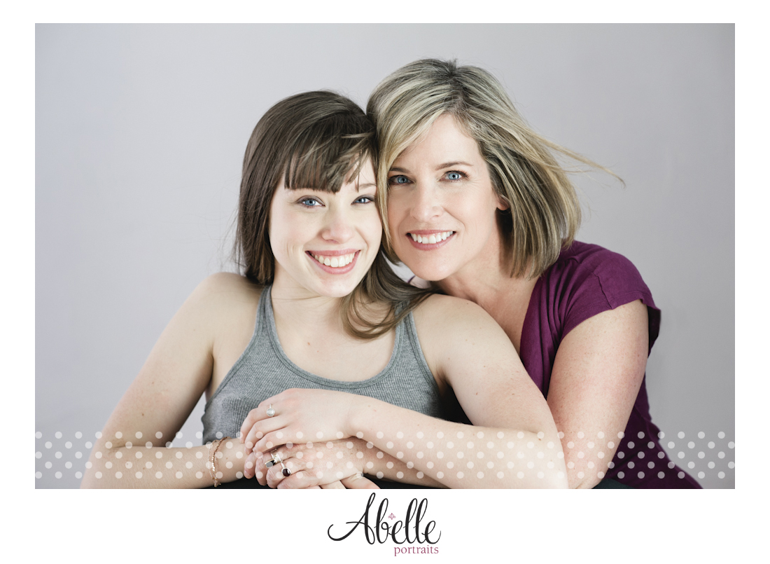 Mother and daughter portrait photography session.