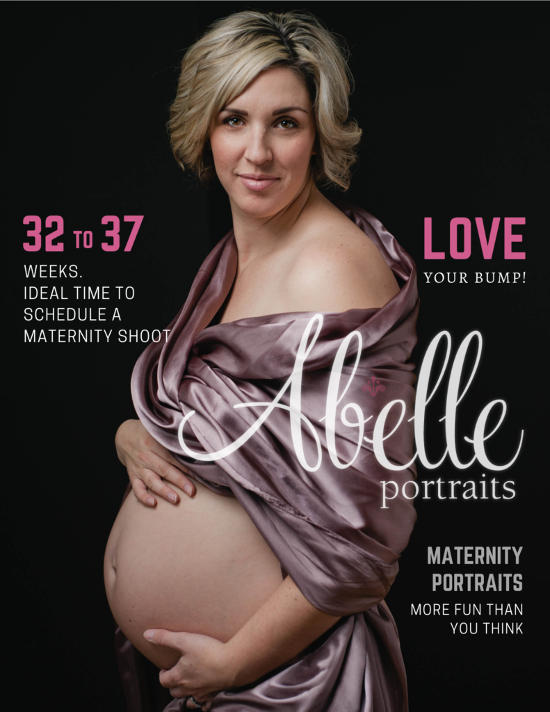 Maternity portrait from Abelle place in a magazine cover.
